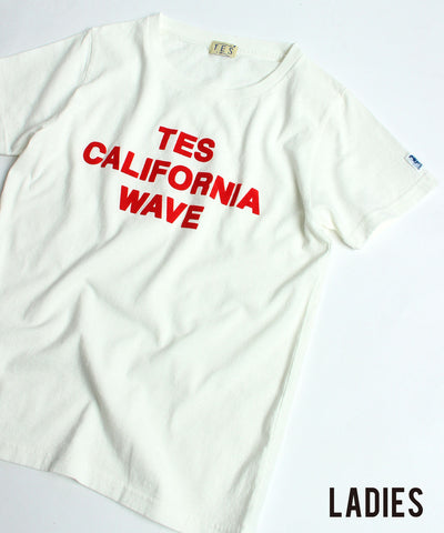 ≪ご予約商品/5月上旬お届け≫TES LADIES CALIFORNIA FLOCK T-Shirts