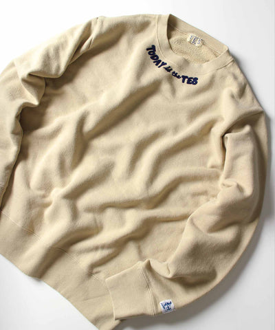 ≪ご予約商品/10上旬お届け≫TES TODAY is the TES CREW NECK SWEAT