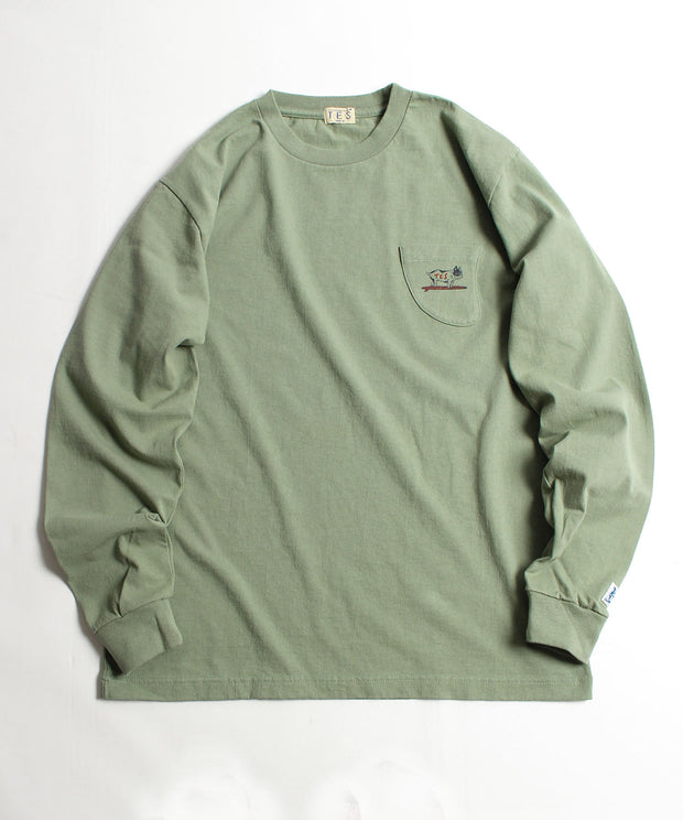 TES HUNTINGTON BEACH FIN POCKET TEE / ロンT