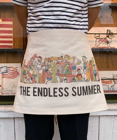TES The Endless Summer エプロン キナリ 生成  プリント テス エンドレスサマー WEB 限定 着用画像 前身