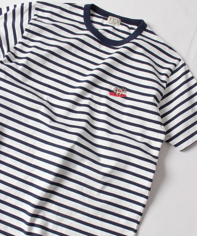 TES TURN BUHI EMB BORDER T-SHIRT / Tシャツ