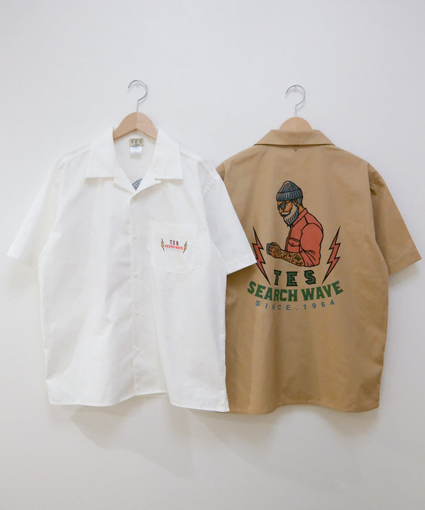 WEB限定 TES HURRICANE OPEN SHIRT / シャツ