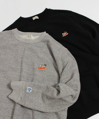 TES TURN BUHI EMB CREWNECK SWEAT / クルーネック スウェット