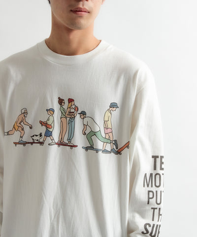 《9月下旬お届け予定》TES MOTEL PUTS THE SURF SK8 LIFE LONG SLEEVE T-SHIRT / ロンT