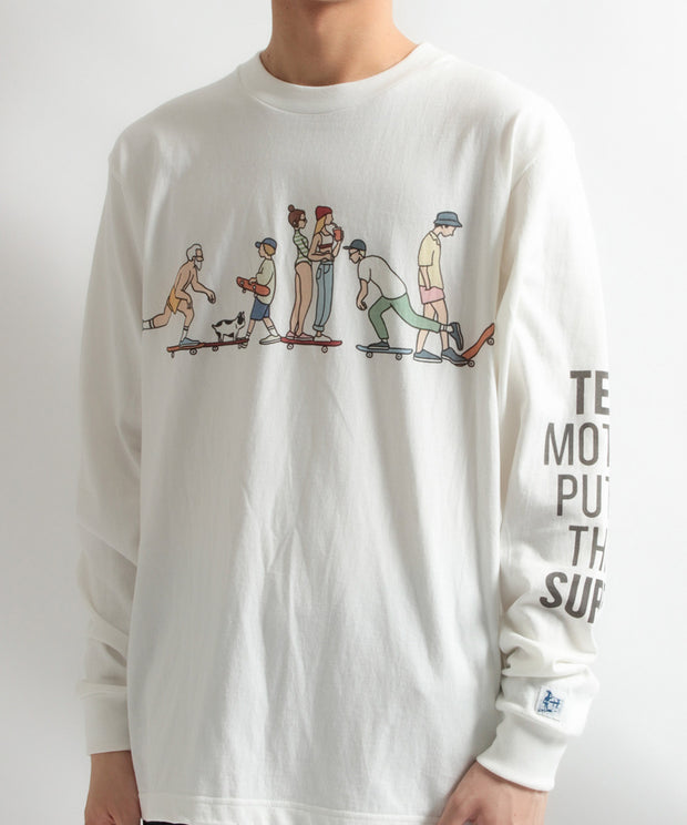 TES MOTEL PUTS THE SURF SK8 LIFE LONG SLEEVE T-SHIRT / ロンT