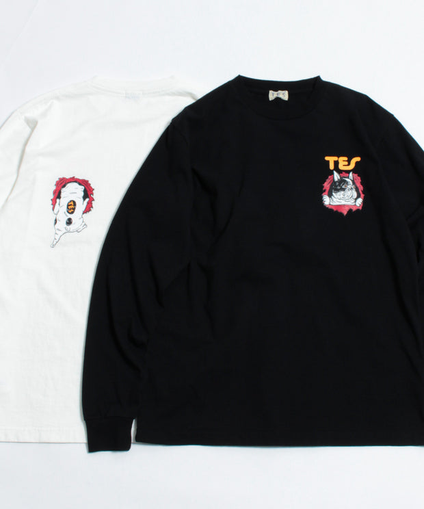 TES RIPPER BUHI LONG SLEEVE T-SHIRT / ロンT