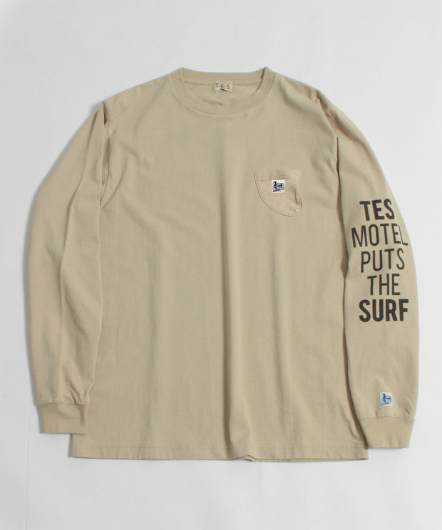 TES MOTEL PUTS THE SURF LONG SLEEVE T-SUNTAN / ロンT