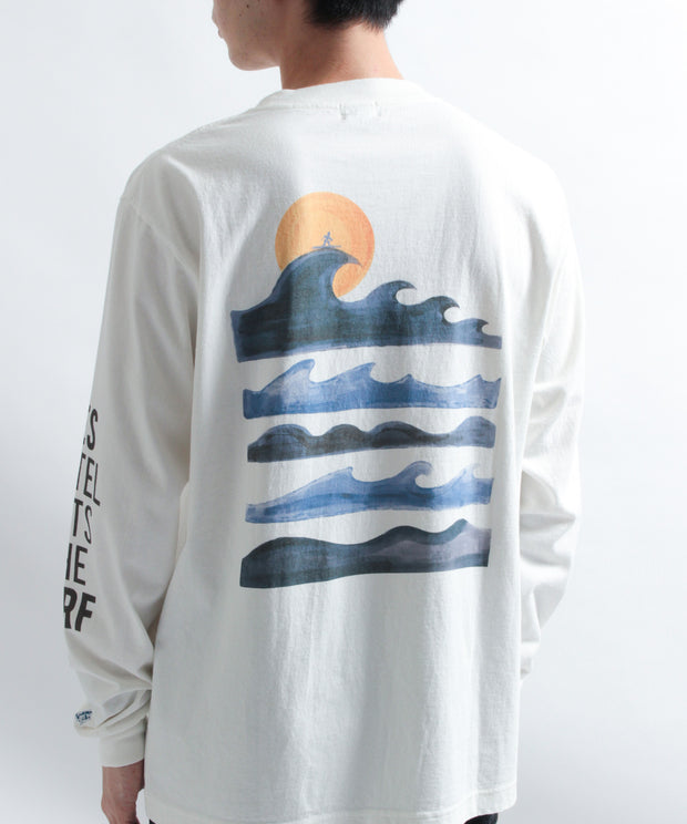 TES MOTEL PUTS THE SURF UK WAVE LONG SLEEVE T-SHIRT / ロンT