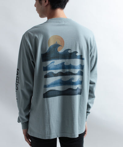 《10月上旬お届け予定》TES MOTEL PUTS THE SURF UK WAVE LONG SLEEVE T-SHIRT / ロンT