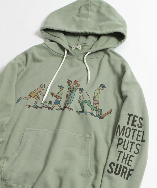TES MOTEL PUTS THE SURF SK8 LIFE PARKA / パーカー