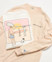 TES MOTEL PUTS POSTER LONG SLEEVE T-SHIRT / ロンT