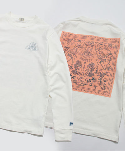 TES CALM BANDANA LONG SLEEVE T-SHIRT / ロンT