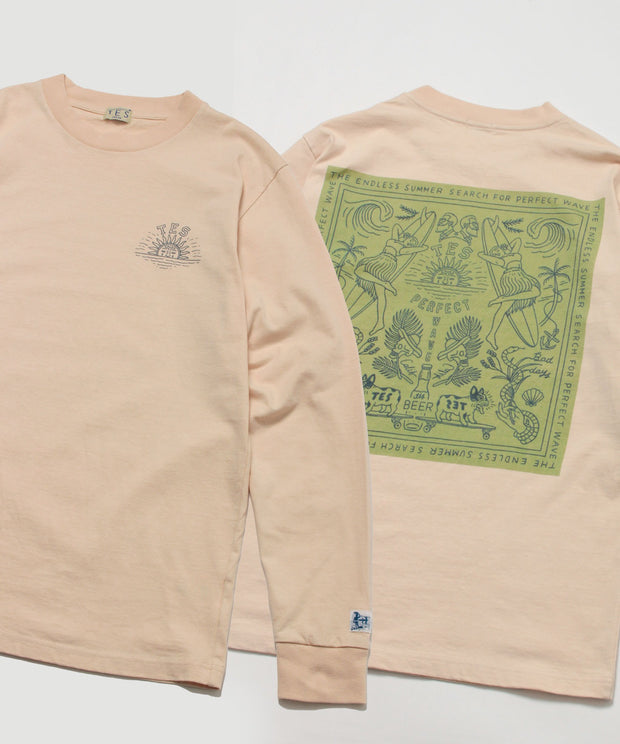 《12月下旬お届け予定》TES CALM BANDANA LONG SLEEVE T-SHIRT / ロンT