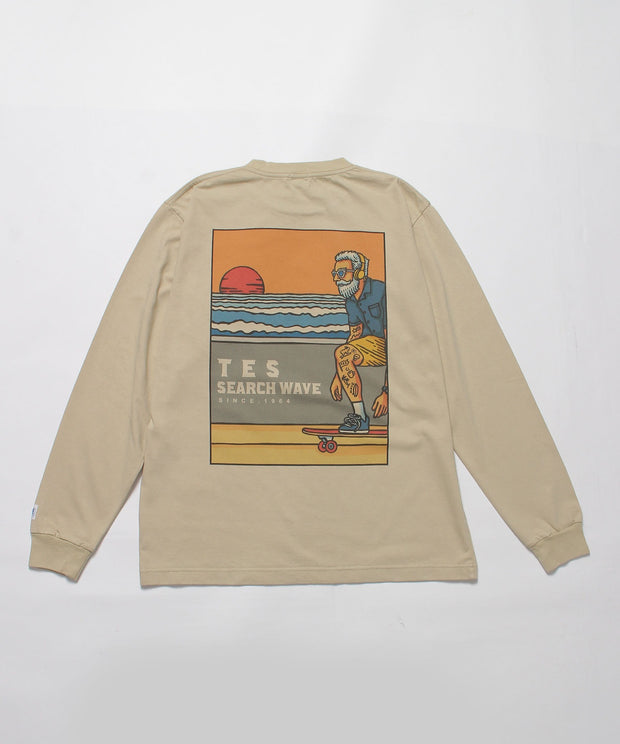 TES HURRICANE SURFER LONG SLEEVE T-SHIRT / ロンT