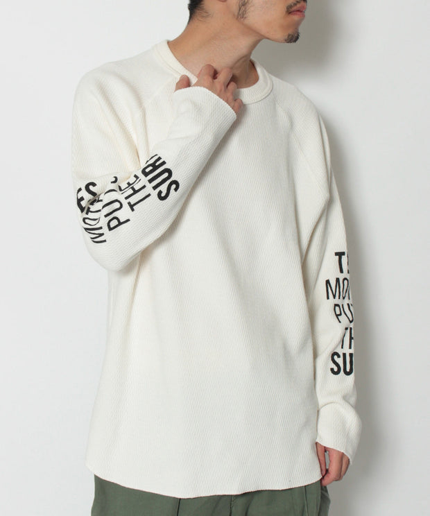 《12月下旬お届け予定》TES MOTEL PUTS HEAVY THERMAL LONG SLEEVE T-SHIRT / ロンT