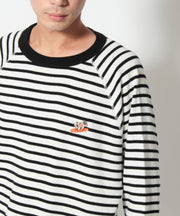 TES TURN BUHI EMB THERMAL BORDER LONG SLEEVE T-SHIRT / ロンT