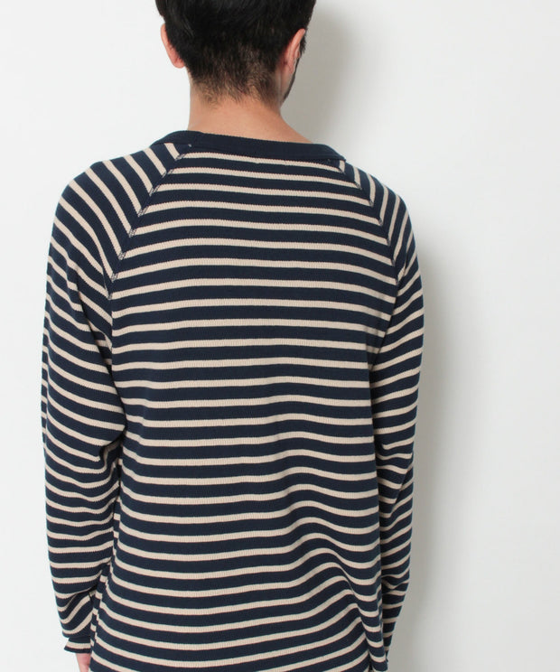《12月下旬お届け予定》TES TURN BUHI EMB THERMAL BORDER LONG SLEEVE T-SHIRT / ロンT