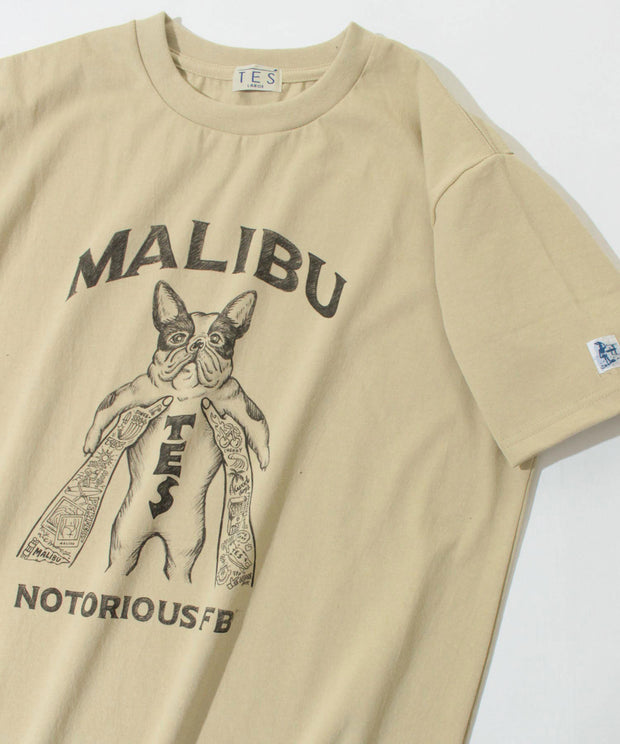 《7月中旬お届け予定》TES MALIBU STAR NOTORIOUS T-SHIRT / Tシャツ