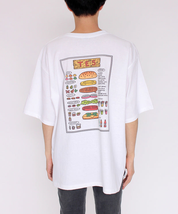《5月中旬お届け予定》TES POP ART UNISEX BIG TーSHIRT HUMBERGER / Tシャツ