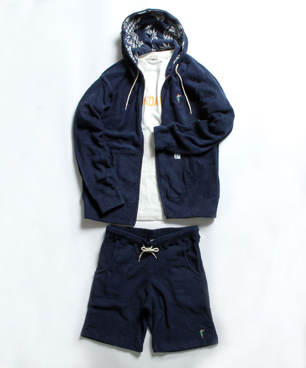 TES COMFORTBALE PILE HULA BETTY ZIP PARKA / パイル ジップパーカー
