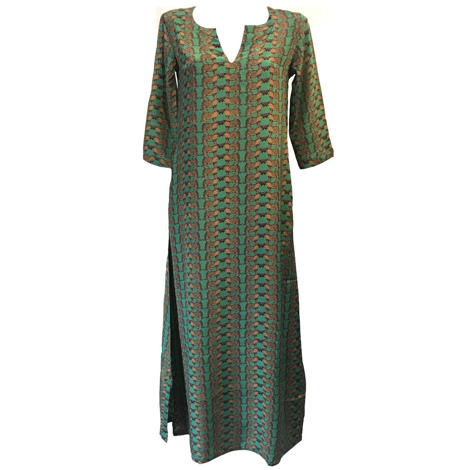 Isola long Silk dress