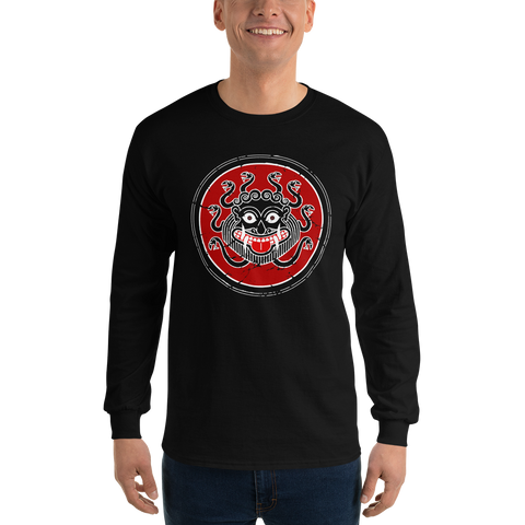 Ancient Greek Warrior Gorgon Long-Sleeve Tee
