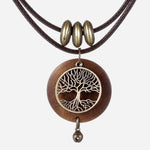 Vintage Tree of Life Wooden Pendant Arkaios Design