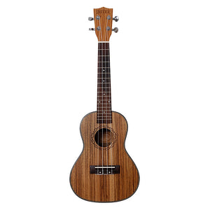 Exquisite Detailed Zebra Wood 23' Concert Ukulele