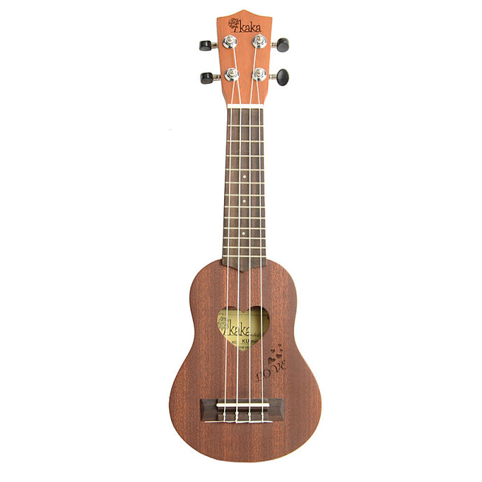 Rosewood Heart Shaped Soundhole Saplele Ukulele with Case