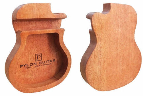 Wooden Guitar-Shape Mobile Phone Stand Holder
