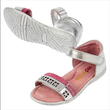 Emme Sandal -Silver Pink - Red Bootie
