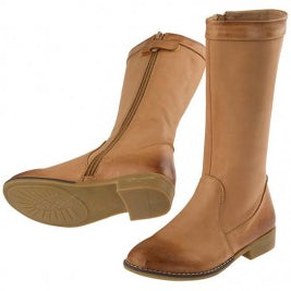 Samson Boot - Tan - Red Bootie