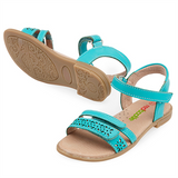 Amy Sandal - Aqua - Red Bootie