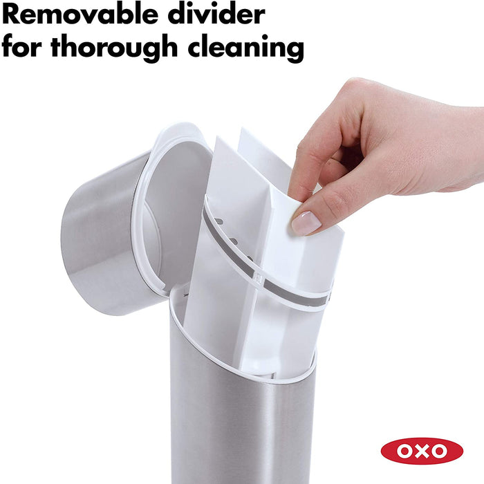 OXO 1286600 Good Grips Stainless Steel Toothbrush Organizer