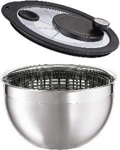 Rosle Stainless Steel Salad-Spinner, Large