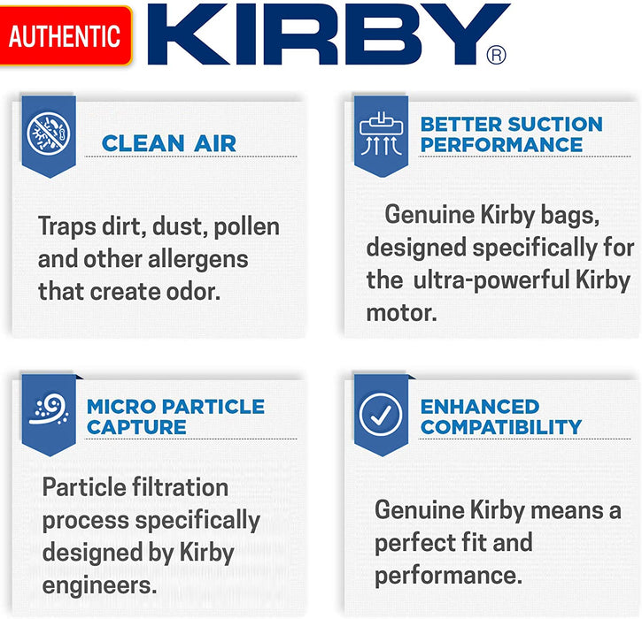 Kirby Generation 3 G3 197289 Disposable Filter Bags, 3, Brown
