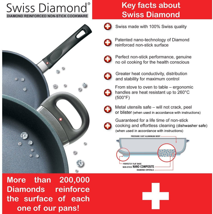 Swiss Diamond 6424C Covered 9.5-Inch Non-Stick Cast Aluminum Fry Pan