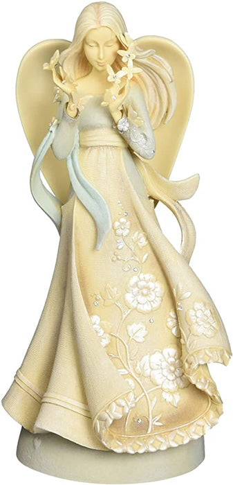Enesco Foundations Hope Angel Stone Resin Figurine, 9""