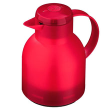 Emsa Samba, Quick Press, Vacuum Insulated Thermal Carafe, 34 oz, Translucent Red