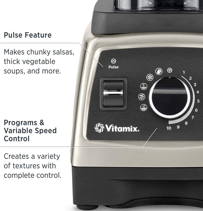 Vitamix Professional Series 750 Blender, Professional-Grade, 64 oz. Low-Profile Container, Black, Self-Cleaning