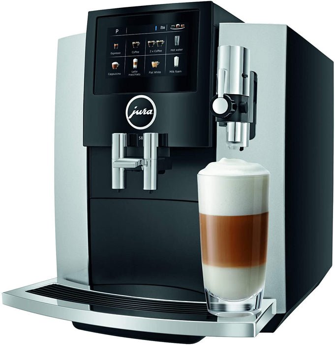 Jura S8 Automatic Coffee Machine Moonlight Silver