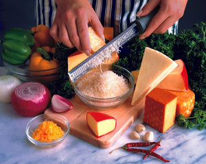 Microplane 40020 Zester Grater Made in USA Stainless Steel Blade for Zesting Citrus and Grating Cheese