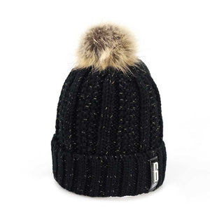 Black Speckled Pom Beanie – Bed Head Apparel d94760573a0