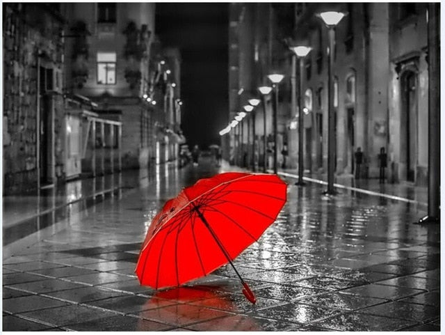 Red Umbrella - Paint By Numbers Kit