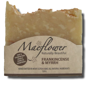 frankincense and myrrh soap front