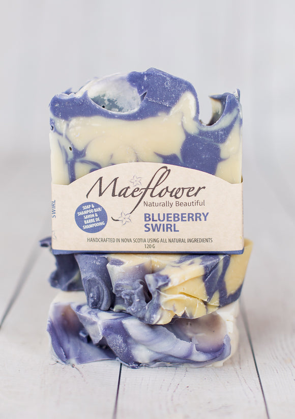 Blueberry Swirl Soap/Shampoo Bar