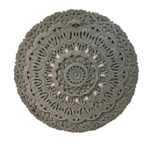 Carved Wood Wall Medallion