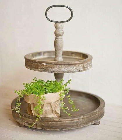 Farmhouse Style Two-Tiered Tray