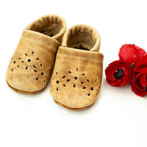 Fawn Blossoms Baby Shoes