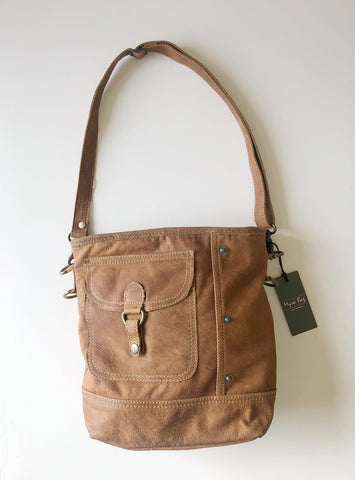 MyraBag Leather pocket shoulder bag